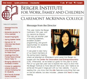 Berger Institute Newsletter