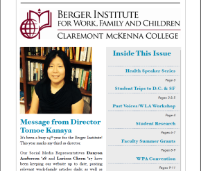 Berger Institute Spring 2015 Newsletter